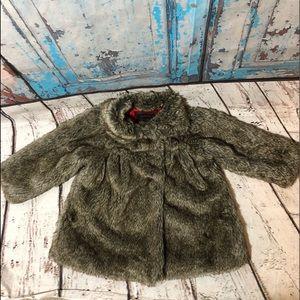 Catimini France Faux Fur Jacket Girls